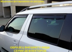 Дефлекторы окон (ветровики) Citroen C1/Peugeot 107 5D 2005-> / вставные, 2шт/