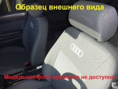 Авточехлы для салона Hyundai Accent (цельная) с 2010  ТемноСерый
