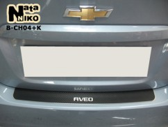 NataNiko Накладка на бампер Chevrolet  AVEO III 4D