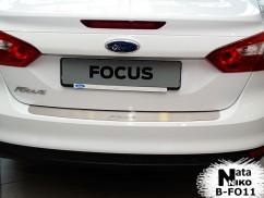 Накладка на бампер Ford  FOCUS III 4D