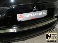 Накладка на бампер Mitsubishi  OUTLANDER II
