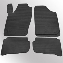 Коврики в салон резиновые Skoda Fabia 00-/07-/VW Polo 02-/ Seat Ibiza 03-/Cordoba 03- (design 2016) (4 шт)