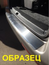 Накладка на бампер с загибом Chevrolet AVEO II 4D