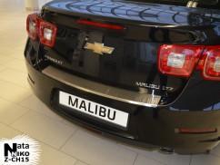NataNiko Накладка на бампер с загибом Chevrolet MALIBU VIII