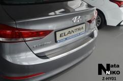 NataNiko Накладка на бампер с загибом Hyundai ELANTRA VI(AD)