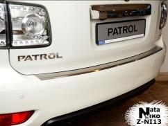 Накладка на бампер с загибом Nissan PATROL VI