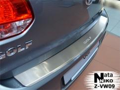 Накладка на бампер с загибом Volkswagen GOLF VI 5D