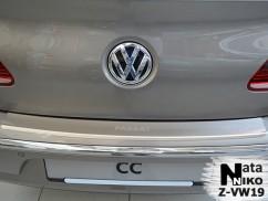 NataNiko Накладка на бампер с загибом Volkswagen PASSAT CC