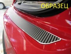 Накладка на бампер (карбон) Chevrolet AVEO I 5D