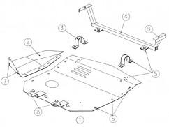 Защита двигателя, коробки передач Audi 100 С4