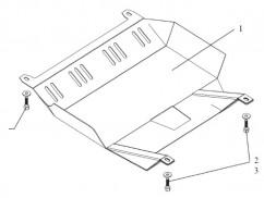 Защита двигателя, коробки передач, радиатора частично Fiat Albea