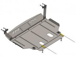 Защита двигателя, коробки передач, радиатора Ford Fiesta  VII EcoBoost