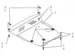 Защита двигателя, коробки передач, радиатора Hyundai Getz