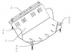 Кольчуга  Защита радиатора ВАЗ 2107 1982-2012