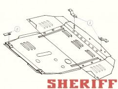 Защита двигателя и коробки передач Alfa Romeo 156