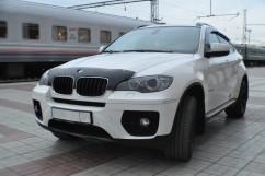 Дефлектор капота  BMW X5/Х6 (E70) 2007-2014 короткий