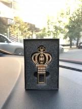 JTEC Заглушки для  ремня безопасности корона (золото)