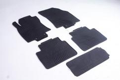 Коврики в салон  Nissan X-Trail 2014- черные комплект  4шт