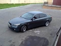 Ветровики  BMW 5 Series 2003-(E60) хром SIM