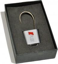Брелок оригинальный  для ключей Audi RS (Premium, трос)