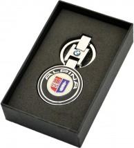 Брелок оригинальный  для ключей BMW Alpina (Premium, черный)