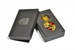Брелок оригинальный  для ключей Porsche (Premium, золото)