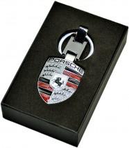 Брелок оригинальный  для ключей Porsche (Premium, серебро)