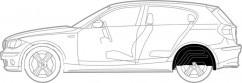 Подкрылки задние Skoda Fabia Mk2 2007-2014