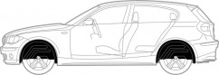 Подкрылки комплект  Mercedes Sprinter (2006-2013)  Спарка