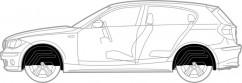 Mega Locker Подкрылки комплект  Toyota Prius 3 (2009-2015)