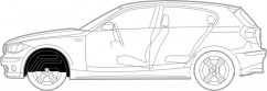 Mega Locker Подкрылки  передние Mercedes Vito (С 2004 Г.)