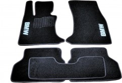 Коврики в салон текстильные BMW 5 (E60) (2003-2010) Черные,  комплект 5шт
