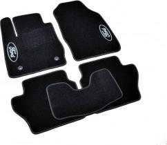 Коврики в салон текстильные Ford Fiesta (2008-) Черные,  комплект 5штрные, комплект 5шт