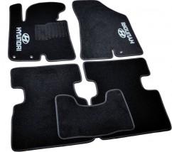 Коврики в салон текстильные Hyundai IX35 (2010-) Черные,  комплект 5шт