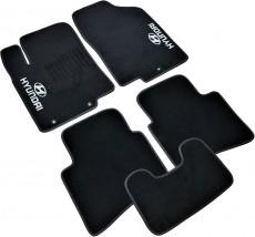AVTM Коврики в салон текстильные Hyundai Accent (2011-) (Solaris) Черные,  комплект 5шт
