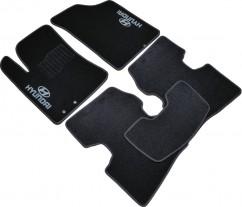 AVTM Коврики в салон текстильные Hyundai Elantra (2006-2011) Черные, комплект 5шт