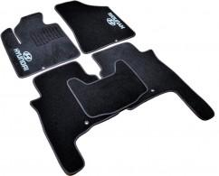 AVTM Коврики в салон текстильные Hyundai Santa Fe (2006-2010) Черные,  комплект 5шт
