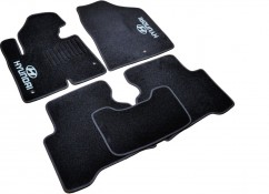 AVTM Коврики в салон текстильные Коврики в салон текстильные Hyundai Santa Fe (2012-) Черные,  комплект 5шт