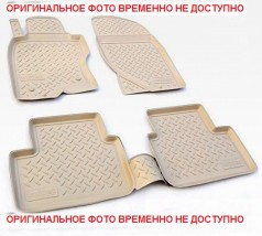 NorPlast Коврики в салон Infiniti G/Q50 (V36) (06-) полиуритановые  бежевые