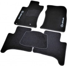 AVTM Коврики в салон текстильные Lexus GX470 (2002-2009) 5 мест Черные, комплект 5шт,