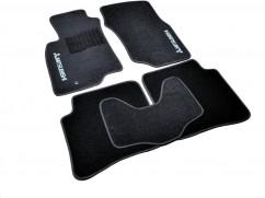 AVTM Коврики в салон текстильные Mitsubishi Lancer (2003-2007) Черные,  комплект 5шт