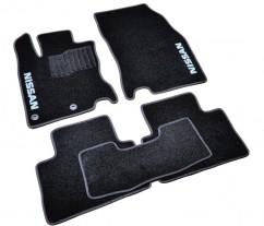 Коврики в салон текстильные Nissan Qashqai (2014-) Черные,  комплект 5шт, KE7454E221
