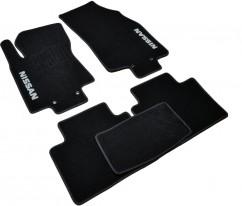 Коврики в салон текстильные Nissan X-Trail T32 (2014-) Черные,  комплект 5шт, KE7454B021