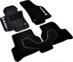 Коврики в салон текстильные Skoda Octavia A5 (2004-2013) Черные,  комплект 5шт