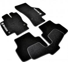 AVTM Коврики в салон текстильные Skoda Octavia A7 (2012-) Черные,  комплект 5шт