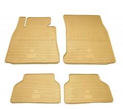 Коврики в салон резиновые BMW 1 (E81/E82/E87) 04- (4шт - бежевые)