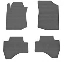 Коврики в салон резиновые Citroen C1 05-/Toyota Aygo 05-/Peugeot 107 05- (design 2016) (4 шт)