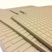 Stingray Коврики в салон резиновые Infiniti FX (S50) 03-08 (design 2016) (4шт - бежевые)