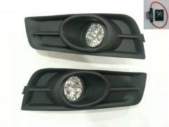 G-plast Противотуманные фары для Chevrolet Cruze 2009- решетка (комплект - 2шт) /LED