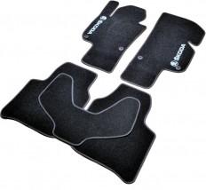 AVTM Коврики в салон текстильные Skoda Super B (2008-2015) Черные,  комплект 5шт